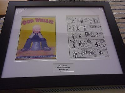 Oor Wullie 80Th Anniversary Framed Set 1936 - 2016 Cover & Comic Strip