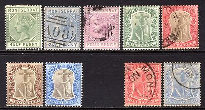 Montserrat Small selection early stamps M/Mint-Used