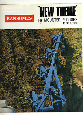Ransomes Fr Mounted Ploughs Tractor Brochure Implement Leaflet,  Ford County,