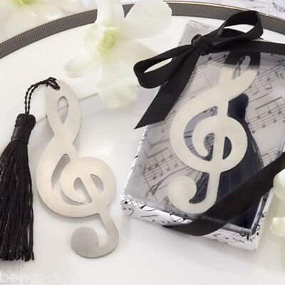 1PC Stainless Steel Music Note Personalised Bookmark Silver Tone Present Gift