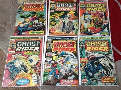Marvels Ghost Rider Vol 1 11-16 1974 Bronze Age