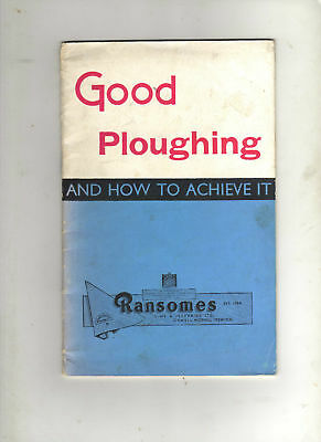 Ransomes 'good Ploughing' Booklet Tractor Brochure Implement Leaflet,  Ford