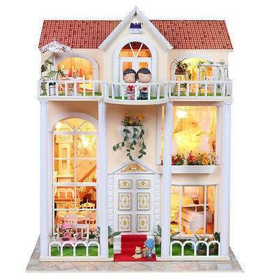 DIY Handcraft Miniature Project Kit Wooden Dolls House My Little Villa in Spain