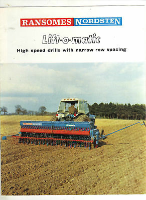 RANSOMES NORDSTEN DRILL TRACTOR BROCHURE IMPLEMENT LEAFLET 60s FARM CLASSIC