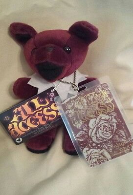Grateful Dead Limited Edition All Access Bean Bear by Liquid Blue with Pass
