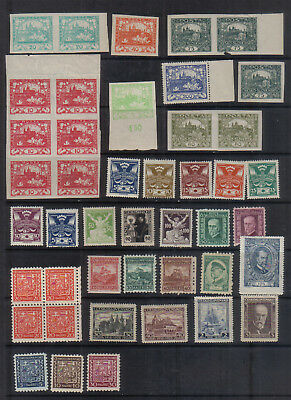 Czechoslovakia early mint collection