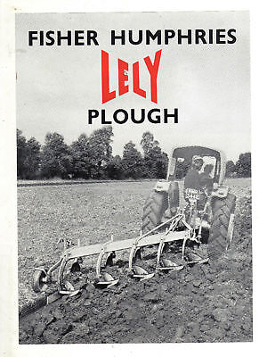 Fisher Humphries Lely Plough Leaflet Sales Brochure Early Classic Model
