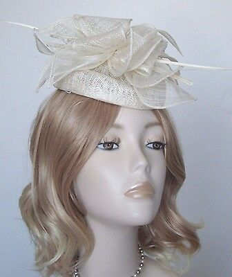 FAILSWORTH IVORY SINAMAY PILLBOX  HATS, With quills,Brand new