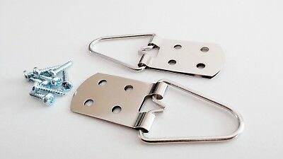 Heavy Duty 4 Hole Strap Hangers for Pictures and Mirrors - Great Quality 10 Pack