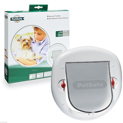 Staywell Petsafe 280 Big Cat Small Dog Flap Pet Door 4 Way Locking Glass PVC