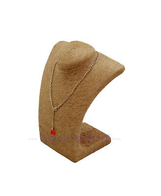 Natural Seagrass Fibre Necklace Display Bust 22.5cm High (G713)