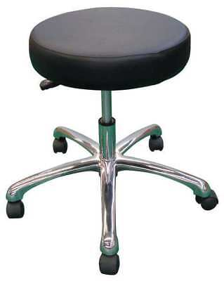 "Round Pneumatic Stool, Height 15"" to 20"" Black, 5NWF9"