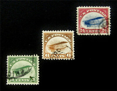 nystamps US Air Mail Stamp # C1-C3 Used $100
