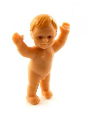 Melody Jane Dolls Houses Miniature Rubber Baby Boy Standing with Arms in Air