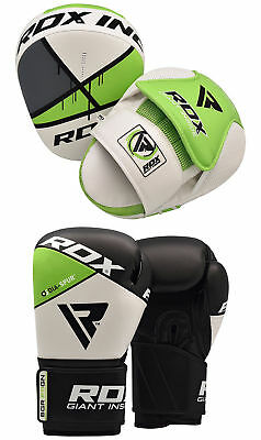 RDX Boxhandschuhe Training Schlagpolster Punch Pad Kickboxen Gloves MMA AT