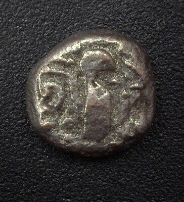 "Chalukya Empire 11Th Century ""heaven & Hell"" Silver Drachma"