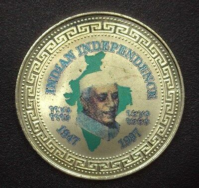 Great Britain 1997 Trade Dollar - Indian Independence, J.nehru - Near Perfect Pf