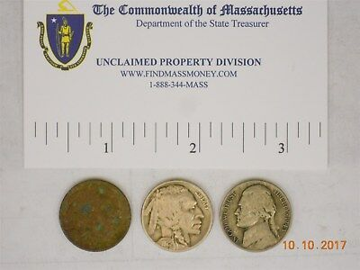 (2) Us 5 Cent, Buffalo. (1) Us 5 Cent, Wartime 1943P