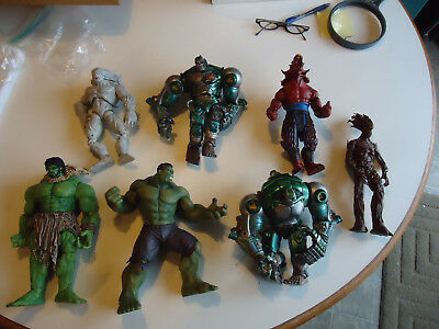 "large lot of mixed Marvel dc comic action figures toys 8-9"" statue"