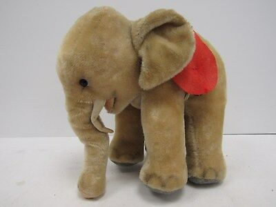 Antique Straw Filled Elephant Stuffed Toy - WEL P41