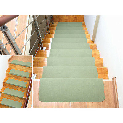 5Pcs Japanese Style Rotated Carpet Stair Treads Mats Non-Slip Rubber Rug Mat New