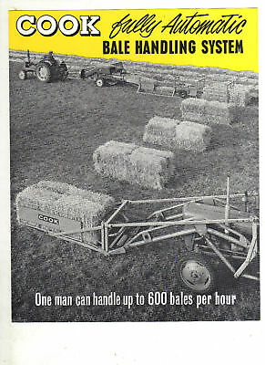 COOKS BALE HANDLING SALES BROCHURE TRACTOR LEAFLET 60s CLASSIC IMPLEMENT