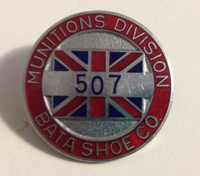 WW1,WW2 War Workers Factory badge Lapel Pin 507 Munitions Division Bata Shoe Co