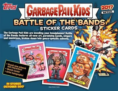 2017 Garbage Pail Kids S2 Battle Of The Bands Sealed 16 Box Blaster Case