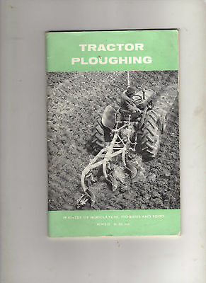 PLOUGHING GUIDE MINISTRY OF AGRICULTURE TRACTOR BROCHURE BOOKLET 60s MANUAL