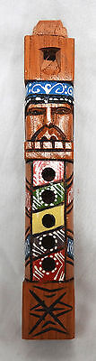 Hand Carved and Painted Peruvian / Andes Wooden Tarka Flute - NEW