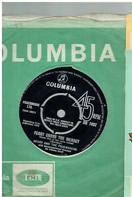 Gerry And The Pacemakers Ferry Cross The Mersey 45 Columbia 1964