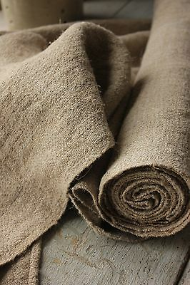 RUSTIC homespun hemp linen fabric upholstery fabric 4.5y material cloth organic