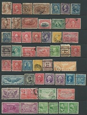 3 scans-Collection of mixed used USA stamps.