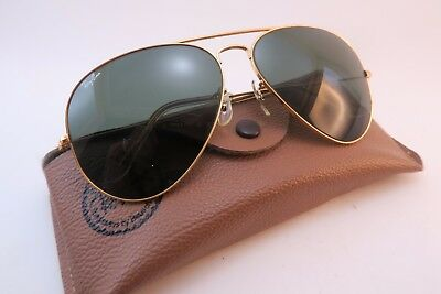 Vintage B&L Ray Ban aviator sunglasses w/case USA etched BL 62-14 EXCELLENT