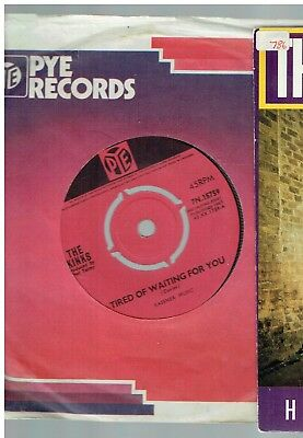 The Kinks Tired Of Waiting For You 45 Pye 1965