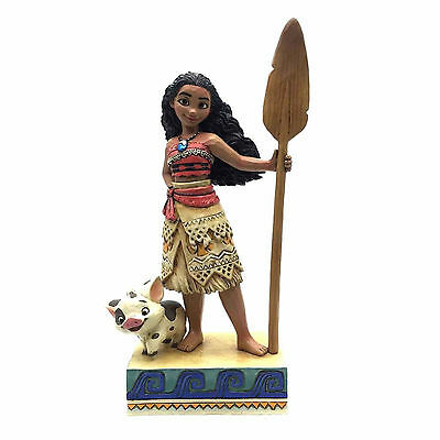 Disney Traditions Jim Shore 2017 MOANA & Pua with Island Motifs Figurine 4056754