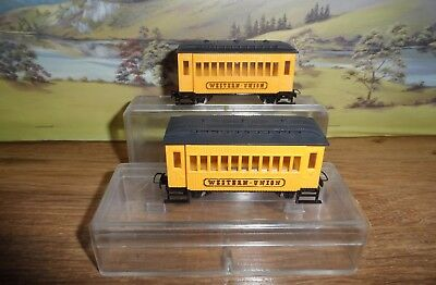 2 Egger-Bahn P27 Model Railways 009 Gauge Western Union Coaches
