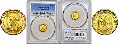 1905 Lewis and Clark $1 Gold Commemorative PCGS MS-66+