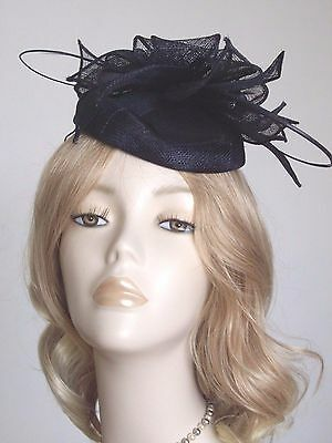 FAILSWORTH SINAMAY PILLBOX  HATS, With quills,Cols Lime, Navy, Ivory,Purple,Choc