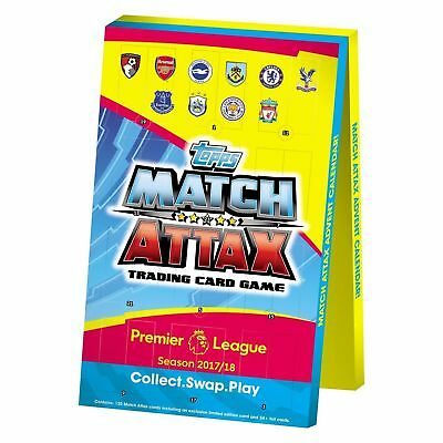 EPL Match Attax 2017/18 Advent Calendar - 24 packs of Football Cards - NEW