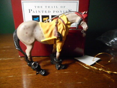 TRAIL OF Painted Ponies Ornament FIREMAN PONY CHristmas 2003  BROKEN LEG