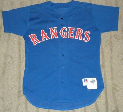 Eric Fox Texas Rangers Game Used Worn 1995 Jersey (Oakland A's)