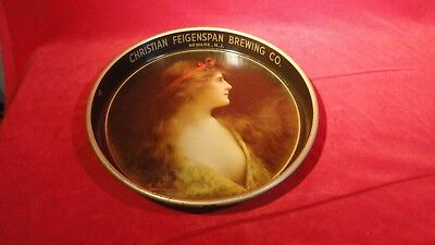 Great Early 1900S Beer Serving Tray - Christian Feigenspan Brewing Co -P O N