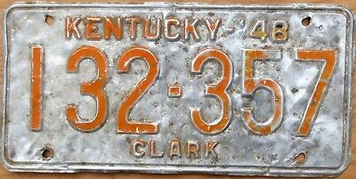1948 Kentucky License Plate Number Tag - $2.99 Start