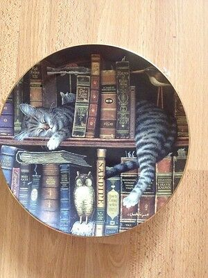 FREDERICK THE LITERATE BY CHARLES WYSOCKI Purr-fect Places Cat Plate 1998