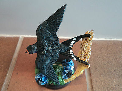 """Vintage Hand Crafted/painted (Country Bird) """"swallow"""" - Mint Condition - Unusual"""