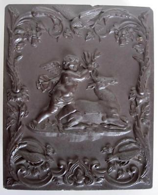 Large Antique Civil War Daguerreotype Gutta Percha Picture Union Case Cupid Deer