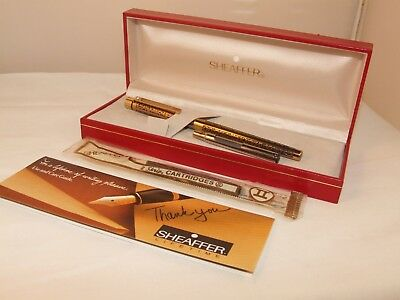 Vintage Sheaffer Targa Slimline Fountain Pen - Model 1019 S - Broad Nib - C1990