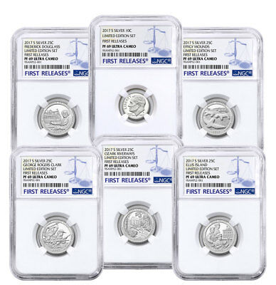 6-Coin 2017-S Limited Edition Silver Proof Set (Minors) NGC PF69 UC FR SKU50124