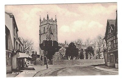 Vintage Postcard The Church at Alcester